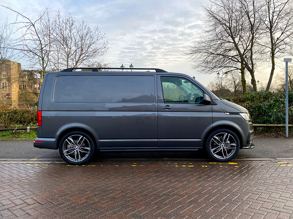VW Transporter parked on the pavement